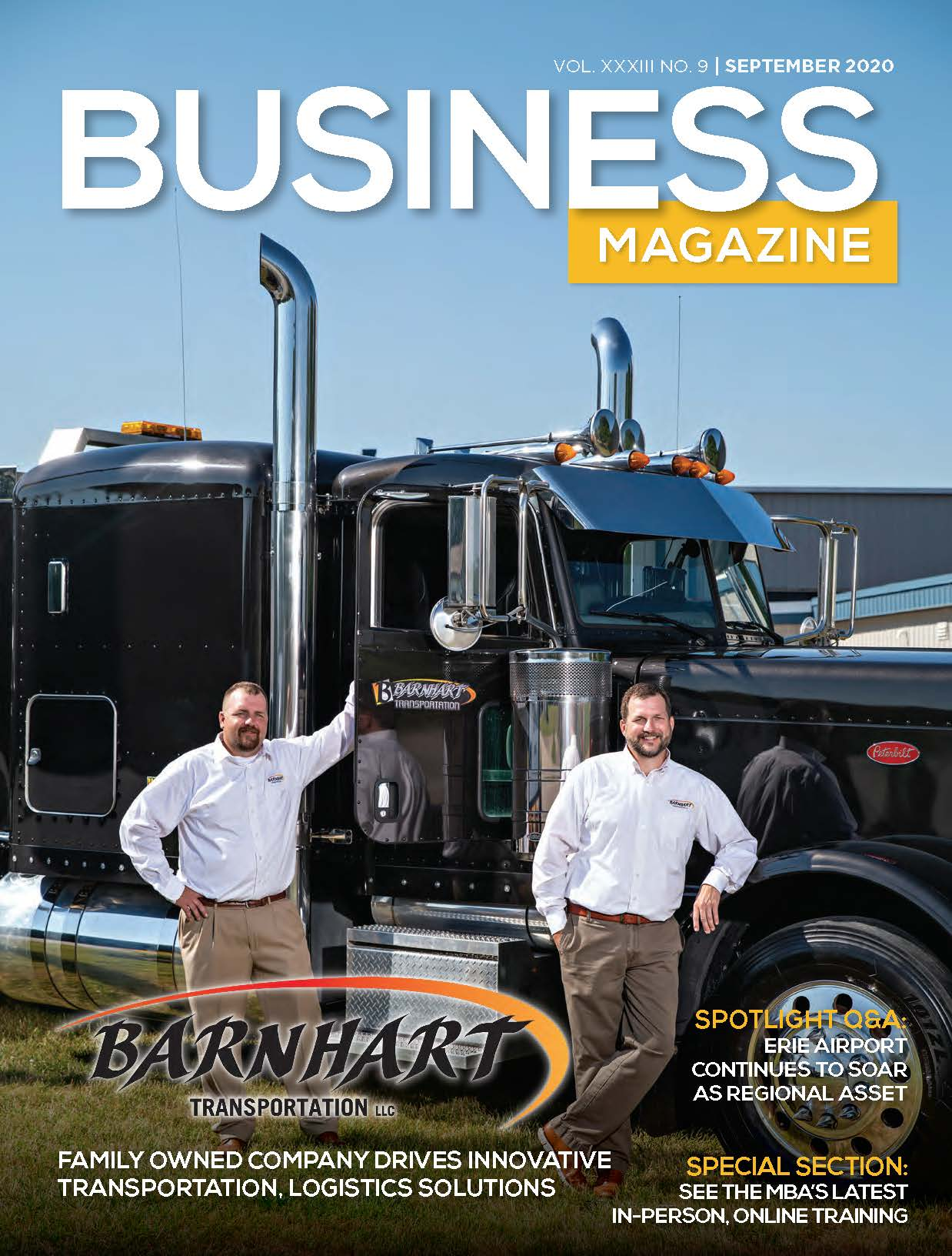 Barnhart featured on the cover of Manufacturers and Business Magazine