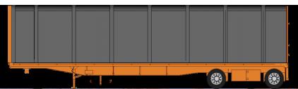 Conestoga Flatbed Trailer - Barnhart Transportation